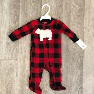 Baby boy fleece sleeper
